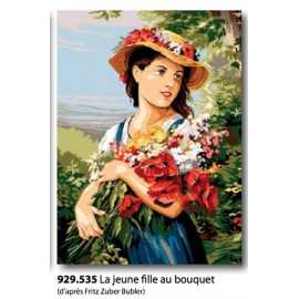 Canvas La jeune fille au bouquet art. 929.535