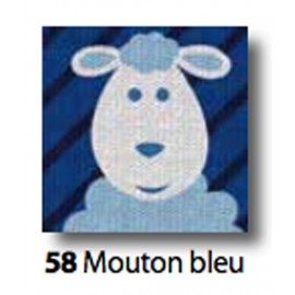 Kit Cloth Mouton bleu art. 7054.58