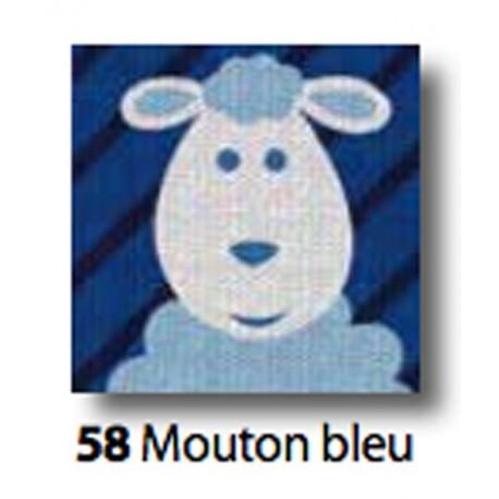 Kit Cloth Mouton bleu art. 7054.58