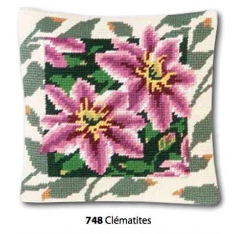 Kit Pillow canvas Clématites art. 273.748