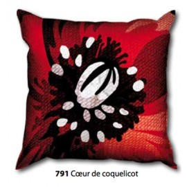 Kit Pillow canvas Coeur de coquelicot art. 273.791