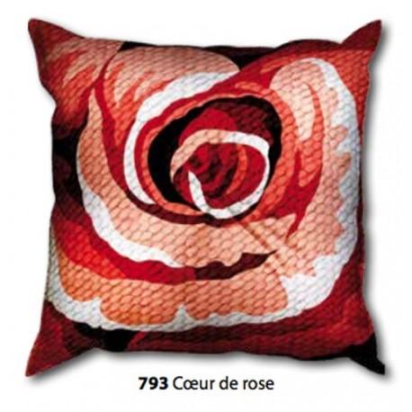 Kit Cuscino canovaccio Coeur de rose art. 273.793
