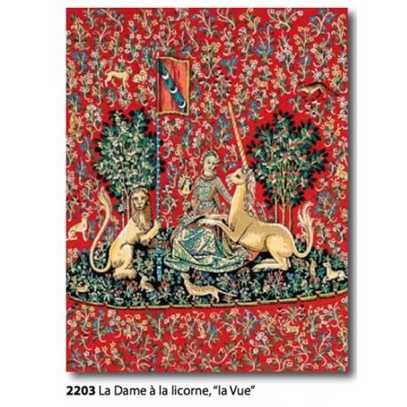 """Canovaccio La dame à la licorne """"La Vue""""art. 143.203"""