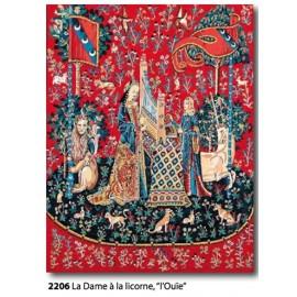"""Canvas La dame à la licorne """"Ouie"""" art. 143.2206"""