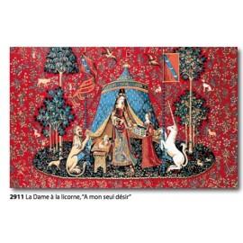 """Canvas La Dame à la licorne """"A mon seul désir"""" art. 253.2911"""