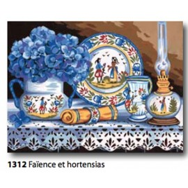 Cloth Faience et hortensias art. 153.1312