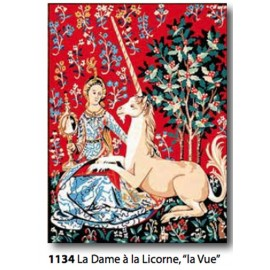 "Canvas La dame à la licorne ""The vue"" art. 153.1134"