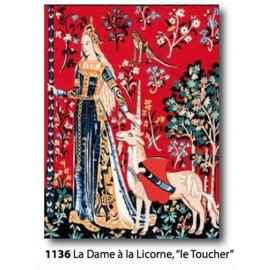 """Canvas La dame à la licorne """"Le toucher"""" art. 153.1136"""