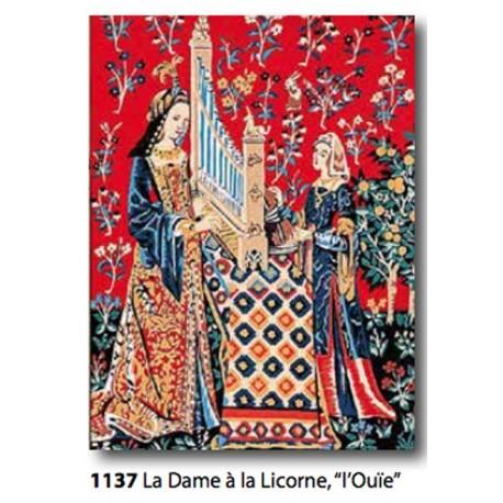 """Canvas La dame à la licorne """"Ouier"""" art. 153.1137"""