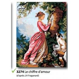 Canvas Le chiffre d'amour art.133.3274