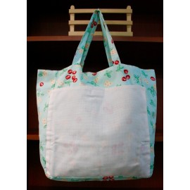Fabric bag with. Fantasy blue