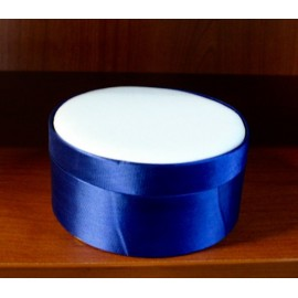 Box satin round col. Royal Blue