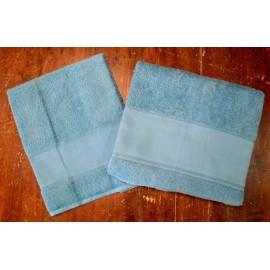 Coppia asciugamani da bagno spugna col. Petrolio