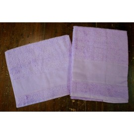 Couple bath towels to sponge with. Lilac