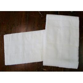 Coppia asciugamani da bagno spugna col. Avorio