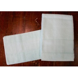 Coppia asciugamani da bagno spugna col. Bianco