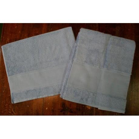 Coppia asciugamani da bagno spugna col. Grigio