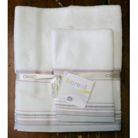 Couple towels from the bathroom mixed linen col. White and pink