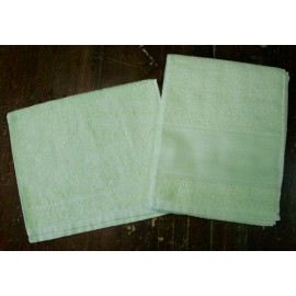 Couple bath towels to sponge with. Apple green