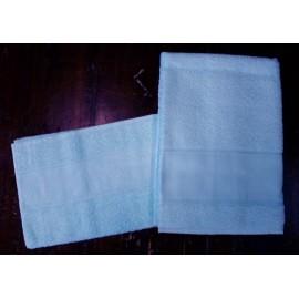 Coppia asciugamani da bagno spugna col. Blu cielo