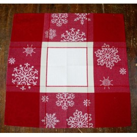 Placemat-american christmas with the. Red