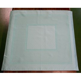 Placemat centerpiece with. Light green