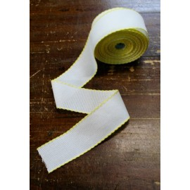 Edge to the aida fabric to 55 holes h 5 cm - Color White/light Yellow