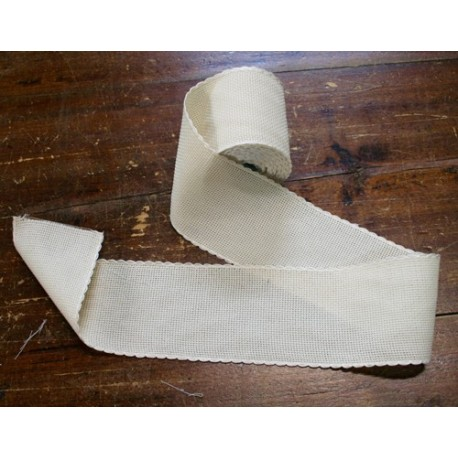 Edge to the aida fabric to 55 holes h 8,5 cm - Color Ecru