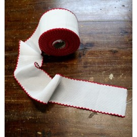 Edge to the aida fabric to 55 holes h 8,5 cm - Col. White/Red