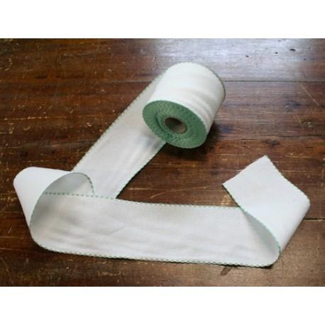 Bordo tela aida 55 fori h 8,5 cm - Col. Bianco/Verde chiaro