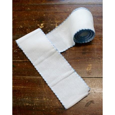 Bordo tela aida 55 fori h 8,5 cm - Col. Bianco/Azzurro