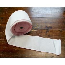 Bordo tela aida 55 fori h 10 cm - Col. Bianco/Rosa