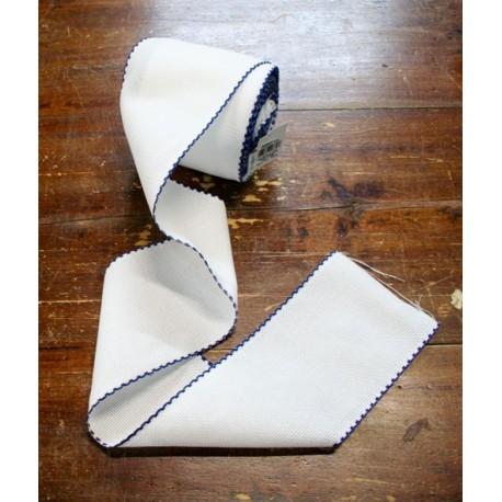 Bordo tela aida 55 fori h 10 cm - Col. Bianco/Blu