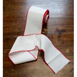 Bordo tela aida 55 fori h 10 cm - Col. Bianco/Rosso