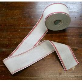 Border linen h 8,5 cm - Col. White/Red