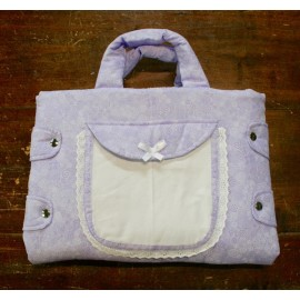 Bag changing mat with. Lilac