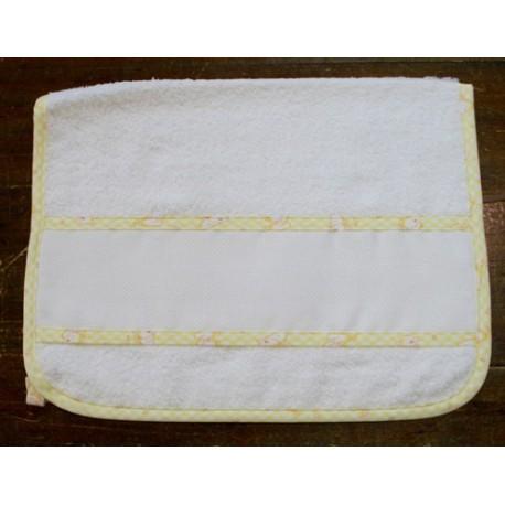 Asciugamano ospite col. Bianco/Giallo