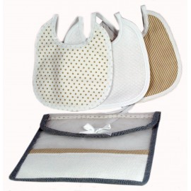 Bibs, set travel col. Beige