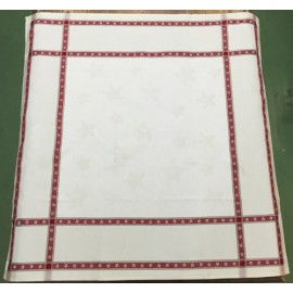 Placemat centerpiece with. white and red