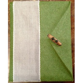 Porta tablet ricamabile col. verde militare