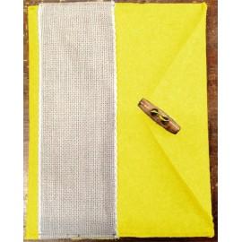 Porta tablet ricamabile col. giallo