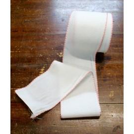 Edge to the aida fabric to 55 holes h 10 cm - Col. White/Salmon
