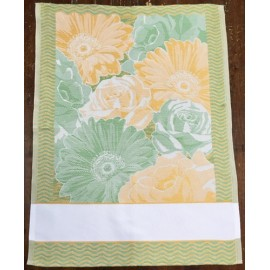 Cloth flower - col. orange and green