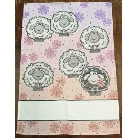 Strofinaccio beeeeh - col. lilla sfumato