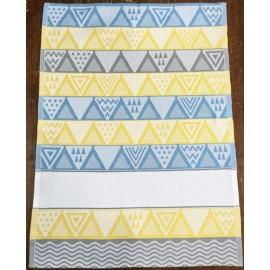 Strofinaccio Waki - col. giallo, blu e grigio