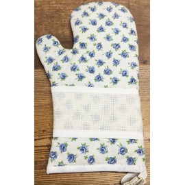 Glove oven rose blue