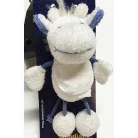 Portachiavi Giraffa col. Bianco e Azzurro