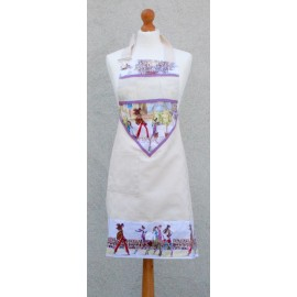Apron bib Paris with. Lilac fantasy (model 1)