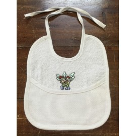 Bavaglina neonato bianca