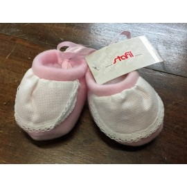 Scarpine neonato col. Rosa